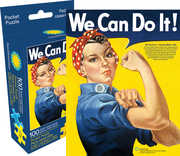 Smithsonian Rosie the Riveter 100pc Pocket Puzzle