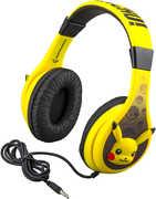Pokemon PK140PIEXV8 Pikachu Youth Kid Safe Headphones Yellow
