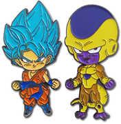 Dragon Ball Super - Ssgss Goku & Golden Frieza Pins