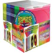 Maxell 190131 CD-392 Double Slim Line CD Jewel Cases 25 Pack
