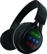COBY CHBT-724-BLK Black Light Up Folding Bluetooth Stereo Headphones