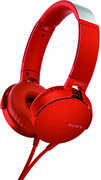 SONY-MDRXB550AR RED SONY ON-EAR EXTRA BASS TAKE CALL HEADPHONES