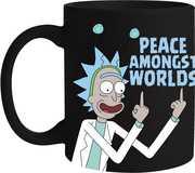 Rick & Morty Peace Glass Mug