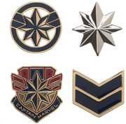 Marvel Captain Marvel 4 Pc Lapel Pin Set