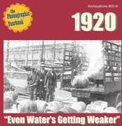 """The Phonographic Yearbook - 1920 """"Even Water's Getting Weaker"""""""