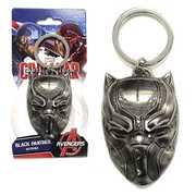 Black Panther Mask Pewter Key Ring
