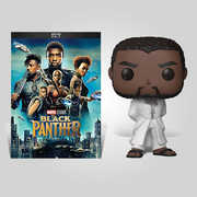 Black Panther White Robe Dvd Bundle , Chadwick Boseman