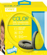 Coby CVH-821-YLW Color Kids Stereo Headphones W/ Mic