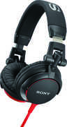 SONY-MDRV55BR BLACK/ RED SONY OVER-EAR HEADPHONES