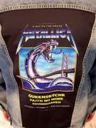 Metallica, Queensryche Iron Snake On The Bridge Blue Jean Jacket(Men's M)