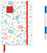 LEGO White Journal with Red 4x4 Brick with Blue Gel Pen