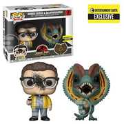 Jurassic Park Nedry and Dilophosaurus Pop! 2-Pack - EE Excl.