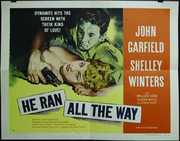 He Ran All The Way Vintage Movie Poster