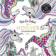 Vive Le Color! Horses Adult Coloring Book