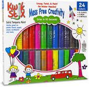 KwikStix Tempera Paint 24 Pack Classic, Metalix, Neon Colors