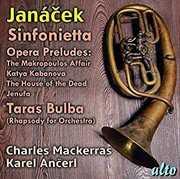 Janacek Sinfonietta Opera Preludes Taras Bulba , Charles Mackerras