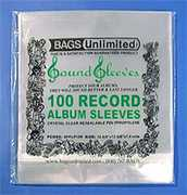 "Bags Unlimited SPPLP15R Snug Fit 12""Resealable Poly Sleeves-100ct"