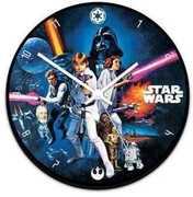 Star Wars 13.5 Inch Cordless Wood Wall Clock