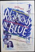 Rhapsody In Blue Vintage Movie Poster