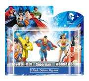 DC 4 Figures - 3 Pack Box - Yellow Flash, Superman, Wonder Woman