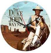 John Wayne The Duke 13.5 Inch Cordless Wood Wall Clock