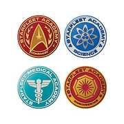 Star Trek The Next Generation 4 Pc. Shaped Mdf Coasters