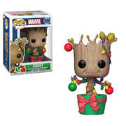 FUNKO POP! MARVEL: Holiday - Groot w/  Lights & Ornaments