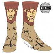 Wizard Of Oz Cowardly Lion 360 Character Crew Socks Men's 10-13