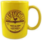 Elvis Presley That's All Right /  Blue Moon Of Kentucky Yellow 11 Oz Ceramic Coffee Mug