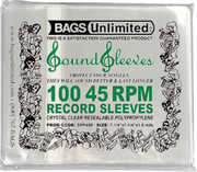 Bags Unlimited SPP45R Reseal.Polypropelene 45rpm Rec.Slv.-1.5mil-100ct