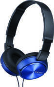 COBY CVH-825-BL Blue Stero Coby Headphones W/  Built- In Mic