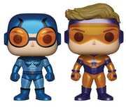 Pop! Heroes Booster Gold & Blue Beetle PX Vin Fig Metallic 2Pk