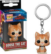 FUNKO POP! KEYCHAIN: Marvel - Captain Marvel - Goose the Cat