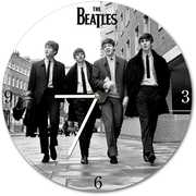 The Beatles 13.5 Inch Cordless Wood Wall Clock