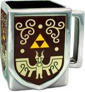 Zelda Triforce Molded Square Shape W. Silver Plating 16 Oz Mug