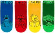 Sesame Street Ankle Socks Unisex Small 9-11 Multicolored 4 Pair 4-Pack