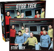 Star Trek- Cast on the Enterprise Bridge 1000 pc Jigsaw Puzzle