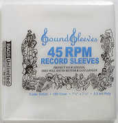 Bags Unlimited S4525 Polyethylene 45rpm Record Sleeve-2.5mil-100 ct