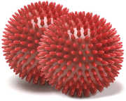 MERRITHEW Massage Ball, Pair (Red), 2.7 inch /  7 cm each