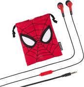 Spider Man ViM15SMFXv7 Noise Isolating Earbuds Mic Travel Bag Red