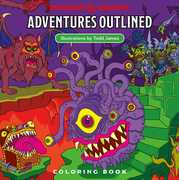 Dungeons & Dragons Adventures Outlined Coloring Book (D&D)