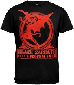 Black Sabbath 1975 European Tour (Mens /  Unisex Adult T-Shirt) Black, SS [Large] Front Print Only