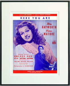 Here You Are Framed Sheet Music