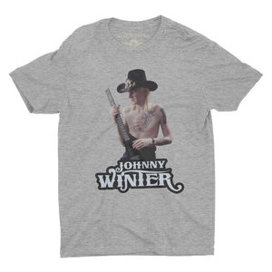 Johnny Winter Athletic Heather Gray Lightweight VintageStyle Cotton T-Shirt (Large)