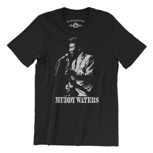 Muddy Waters Suit Black Lightweight Vintage Style T-Shirt (Large)