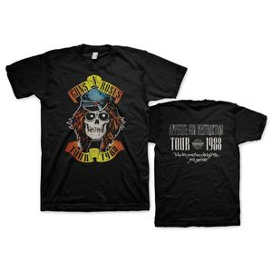 Guns N' Roses Appetite For Destruction Tour 1988 (Mens /  Unisex Adult T-Shirt) Black, SS [Small] Front & Back Print