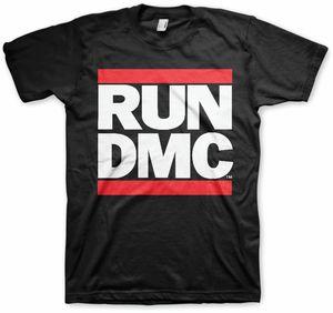 Run D.M.C. Logo (Mens /  Unisex Adult T-Shirt) Black, SS [XL] Front Print Only