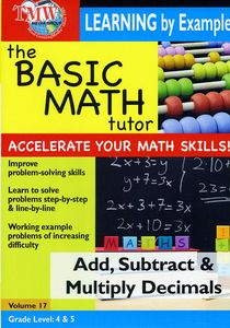 Basic Math Tutor: Add, Subtract, And Multiply Decimals