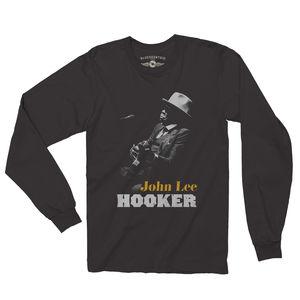 John Lee Hooker 1987 Black Long Sleeve T-Shirt (XL)