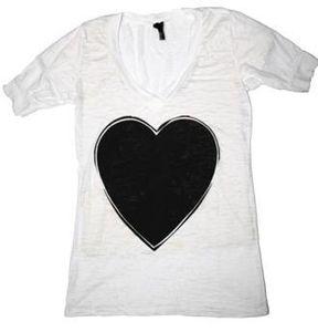 Blackheart Burnout Women's V-Neck